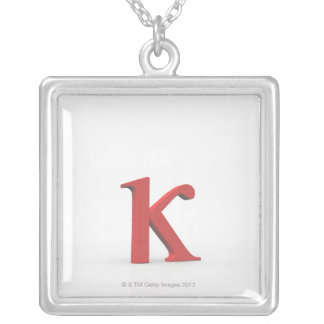 Kappa 2 silver plated necklace