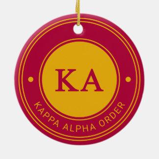 Kappa Alpha Order   Badge Christmas Ornament