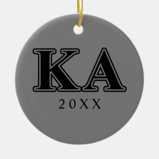 Kappa Alpha Order Black Letters Christmas Ornament