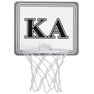 Kappa Alpha Order Black Letters Mini Basketball Hoop