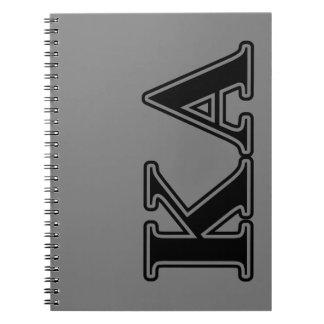 Kappa Alpha Order Black Letters Notebook