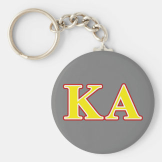 Kappa Alpha Order Red and Yellow Letters Basic Round Button Key Ring