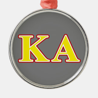 Kappa Alpha Order Red and Yellow Letters Christmas Ornament