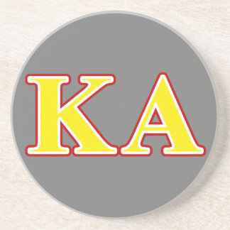 Kappa Alpha Order Red and Yellow Letters Coaster