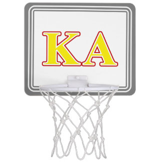 Kappa Alpha Order Red and Yellow Letters Mini Basketball Hoop