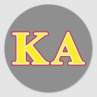 Kappa Alpha Order Red and Yellow Letters Round Sticker
