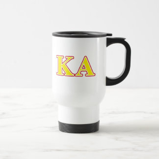 Kappa Alpha Order Red and Yellow Letters Travel Mug