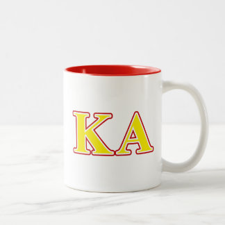 Kappa Alpha Order Red and Yellow Letters Two-Tone Coffee Mug