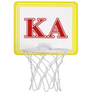 Kappa Alpha Order Red Letters Mini Basketball Hoop