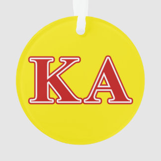 Kappa Alpha Order Red Letters Ornament