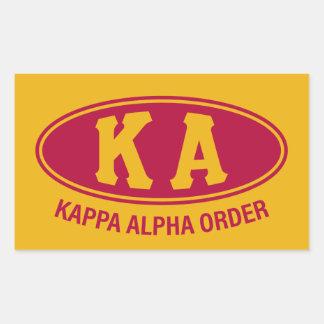 Kappa Alpha Order | Vintage Rectangular Sticker