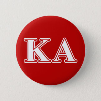 Kappa Alpha Order White and Red Letters 6 Cm Round Badge