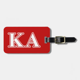 Kappa Alpha Order White and Red Letters Luggage Tag
