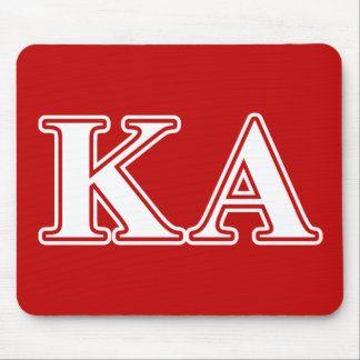Kappa Alpha Order White and Red Letters Mouse Pad
