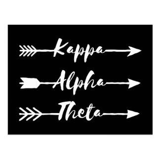 Kappa Alpha Theta   Arrows Postcard