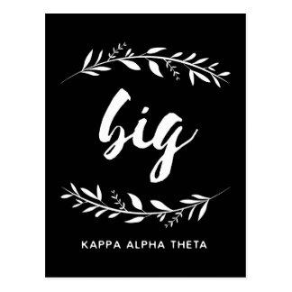 Kappa Alpha Theta   Big Wreath Postcard