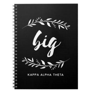 Kappa Alpha Theta | Big Wreath Spiral Notebook