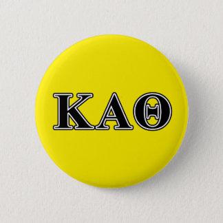 Kappa Alpha Theta Black Letters 6 Cm Round Badge