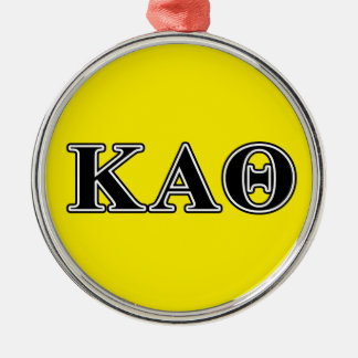 Kappa Alpha Theta Black Letters Christmas Ornament