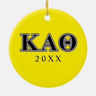 Kappa Alpha Theta Black Letters Christmas Ornament