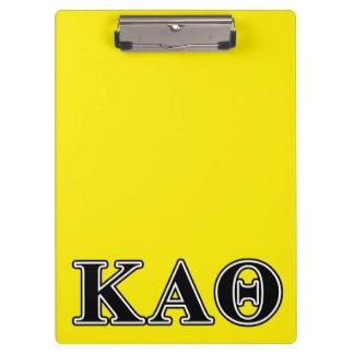 Kappa Alpha Theta Black Letters Clipboard
