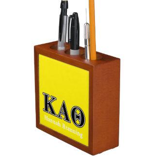 Kappa Alpha Theta Black Letters Desk Organiser