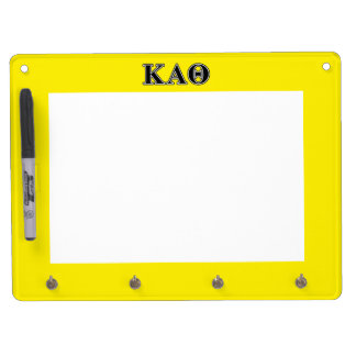 Kappa Alpha Theta Black Letters Dry Erase Board With Key Ring Holder