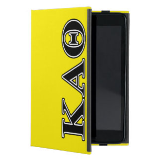 Kappa Alpha Theta Black Letters iPad Mini Cover