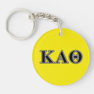 Kappa Alpha Theta Black Letters Key Ring