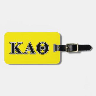 Kappa Alpha Theta Black Letters Luggage Tag