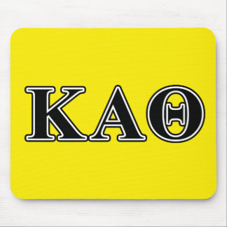Kappa Alpha Theta Black Letters Mouse Mat