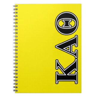 Kappa Alpha Theta Black Letters Notebook