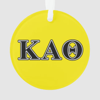Kappa Alpha Theta Black Letters Ornament