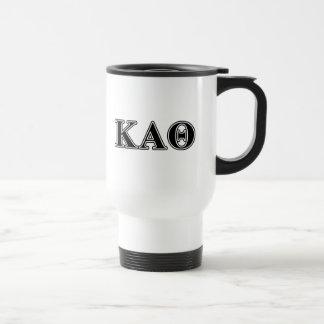 Kappa Alpha Theta Black Letters Travel Mug