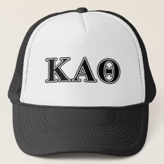 Kappa Alpha Theta Black Letters Trucker Hat