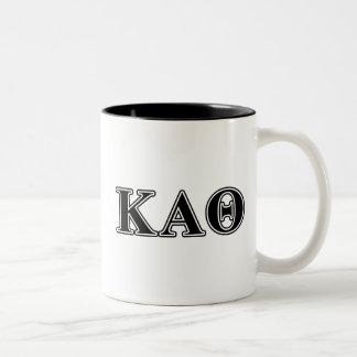 Kappa Alpha Theta Black Letters Two-Tone Coffee Mug