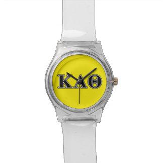 Kappa Alpha Theta Black Letters Watch