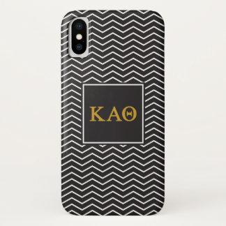 Kappa Alpha Theta   Chevron Pattern iPhone X Case