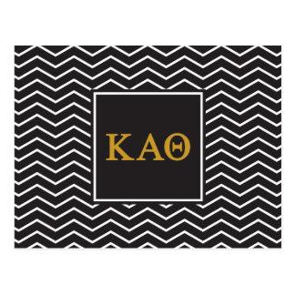 Kappa Alpha Theta   Chevron Pattern Postcard