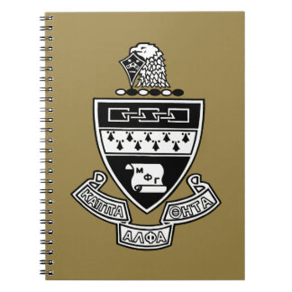 Kappa Alpha Theta Coat of Arms: Black and White Spiral Notebook