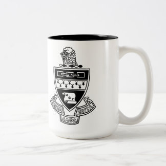 Kappa Alpha Theta Coat of Arms: Black and White Two-Tone Coffee Mug