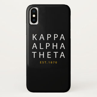 Kappa Alpha Theta   Est. 1870 iPhone X Case