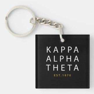 Kappa Alpha Theta   Est. 1870 Key Ring