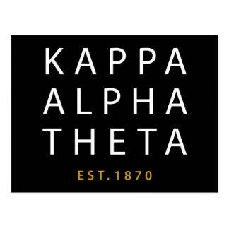Kappa Alpha Theta   Est. 1870 Postcard
