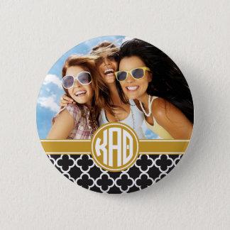 Kappa Alpha Theta   Monogram and Photo 6 Cm Round Badge