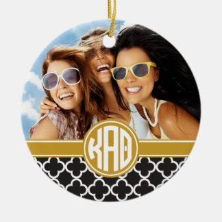Kappa Alpha Theta   Monogram and Photo Christmas Ornament