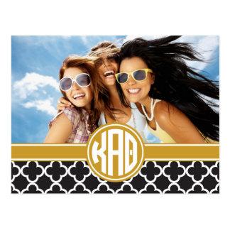 Kappa Alpha Theta   Monogram and Photo Postcard