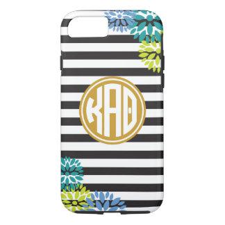 Kappa Alpha Theta | Monogram Stripe Pattern iPhone 8/7 Case