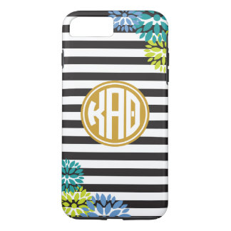 Kappa Alpha Theta | Monogram Stripe Pattern iPhone 8 Plus/7 Plus Case