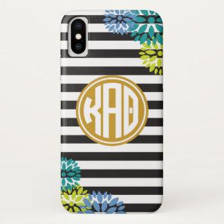 Kappa Alpha Theta   Monogram Stripe Pattern iPhone X Case